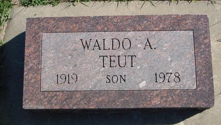 TEUT, WALDO A. - Crawford County, Iowa | WALDO A. TEUT