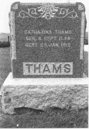 HENNINGSEN THAMS, CATHARINA - Crawford County, Iowa | CATHARINA HENNINGSEN THAMS