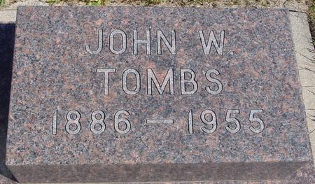 TOMBS, JOHN W. - Crawford County, Iowa | JOHN W. TOMBS