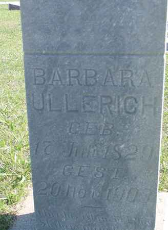 ULLERICH, BARBARA - Crawford County, Iowa   BARBARA ULLERICH