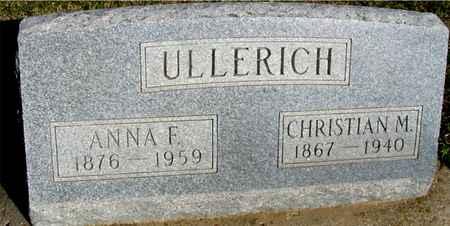 ULLERICH, CHRISTIAN & ANNA F. - Crawford County, Iowa | CHRISTIAN & ANNA F. ULLERICH