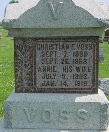 VOSS, CHRISTIAN F. - Crawford County, Iowa | CHRISTIAN F. VOSS