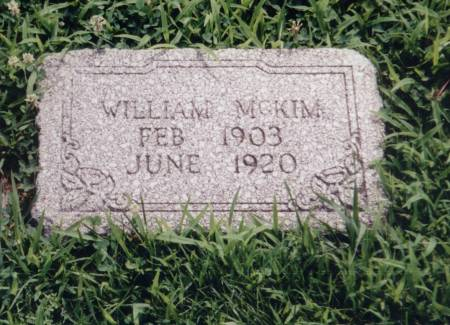 MCKIM, WILLIAM - Crawford County, Iowa | WILLIAM MCKIM