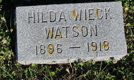WIECK WATSON, HILDA - Crawford County, Iowa | HILDA WIECK WATSON