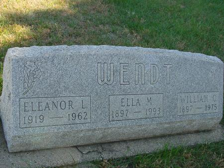 WENDT, WILLIAM & ELLA - Crawford County, Iowa | WILLIAM & ELLA WENDT