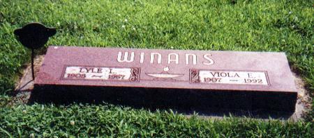 WINANS, VIOLA E. - Crawford County, Iowa | VIOLA E. WINANS