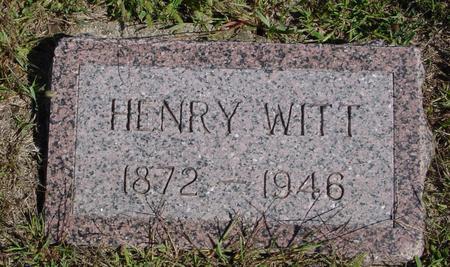 WITT, HENRY - Crawford County, Iowa | HENRY WITT