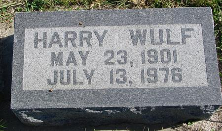 WULF, HARRY - Crawford County, Iowa | HARRY WULF
