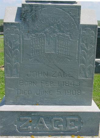 ZAGE, JOHN - Crawford County, Iowa | JOHN ZAGE