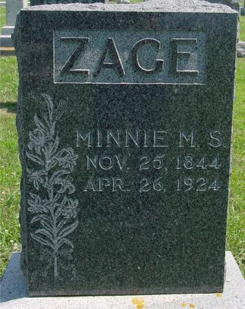 ZAGE, MINNIE - Crawford County, Iowa | MINNIE ZAGE
