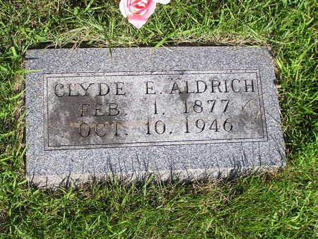 ALDRICH, CLYDE E. - Dallas County, Iowa | CLYDE E. ALDRICH