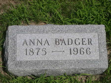 BADGER, ANNA - Dallas County, Iowa | ANNA BADGER