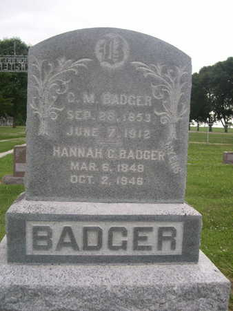 BADGER, C. M. - Dallas County, Iowa | C. M. BADGER