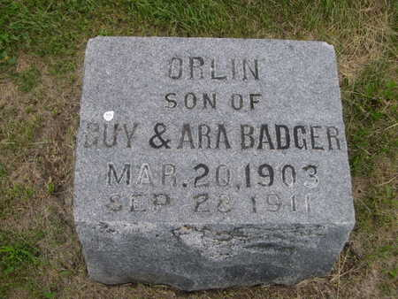 BADGER, ORLIN - Dallas County, Iowa | ORLIN BADGER