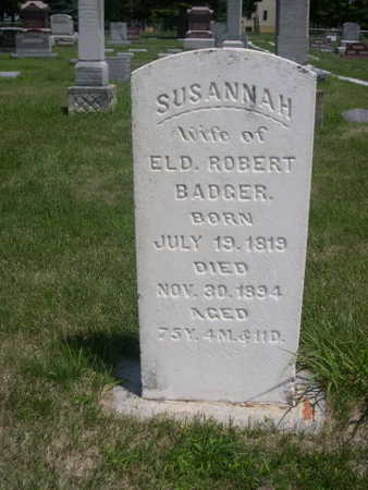 BADGER, SUSANNAH - Dallas County, Iowa | SUSANNAH BADGER