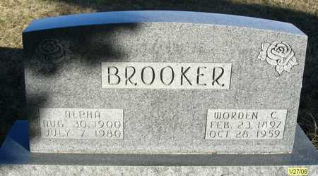 BROOKER, ALPHA - Dallas County, Iowa | ALPHA BROOKER