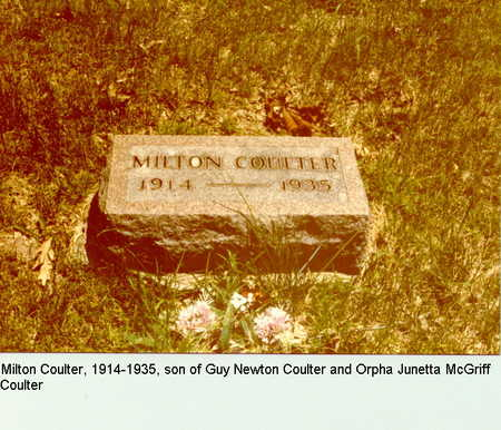 COULTER, MILTON - Dallas County, Iowa | MILTON COULTER