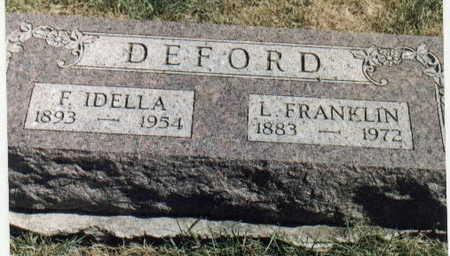 WEBB DEFORD, F (FRANCIS) IDELLA - Dallas County, Iowa | F (FRANCIS) IDELLA WEBB DEFORD