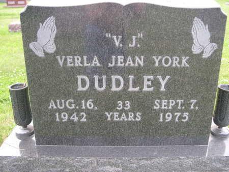 YORK DUDLEY, VERLA JEAN