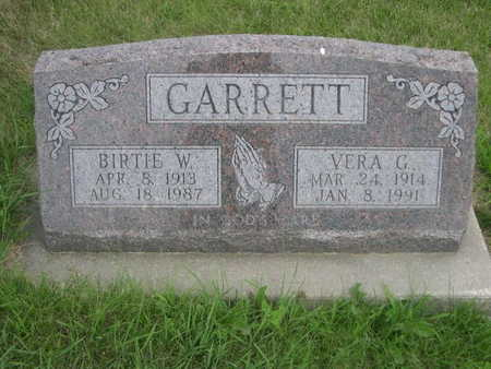 GARRETT, BIRTIE W. - Dallas County, Iowa | BIRTIE W. GARRETT