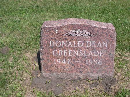 GREENSLADE, DONALD DEAN - Dallas County, Iowa   DONALD DEAN GREENSLADE
