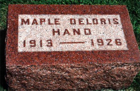 HAND, MAPLE DELORIS - Dallas County, Iowa | MAPLE DELORIS HAND