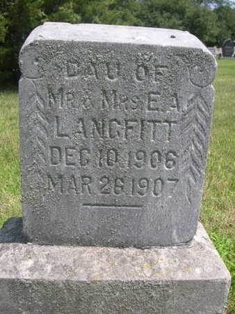 LANGFITT, DAUGHTER OF E.A. - Dallas County, Iowa | DAUGHTER OF E.A. LANGFITT