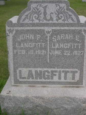 LANGFITT, SARAH E. - Dallas County, Iowa | SARAH E. LANGFITT