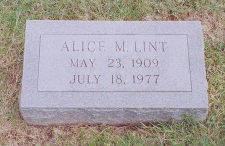 LINT, ALICE M. - Dallas County, Iowa | ALICE M. LINT