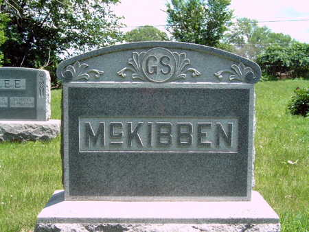 MCKIBBEN, G S FAMILY STONE - Dallas County, Iowa | G S FAMILY STONE MCKIBBEN