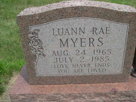 MYERS, LUANN RAE - Dallas County, Iowa | LUANN RAE MYERS