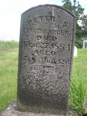 PITSENBARGER, PETER S. - Dallas County, Iowa   PETER S. PITSENBARGER