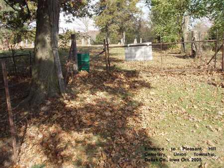 PLEASANT HILL, CEMETERY - Dallas County, Iowa | CEMETERY PLEASANT HILL