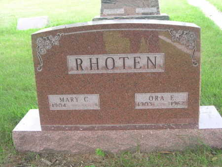 RHOTEN, MARY C. - Dallas County, Iowa | MARY C. RHOTEN