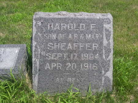 SHEAFFER, HAROLD E. - Dallas County, Iowa | HAROLD E. SHEAFFER
