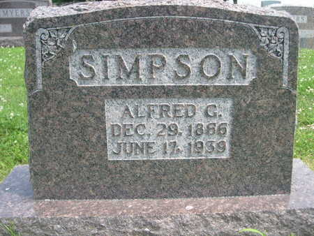 SIMPSON, ALFRED G. - Dallas County, Iowa | ALFRED G. SIMPSON