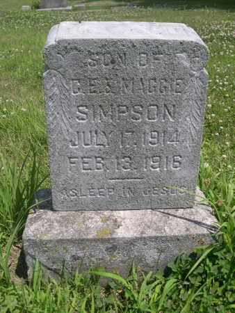 SIMPSON, SON OF C.E. - Dallas County, Iowa | SON OF C.E. SIMPSON