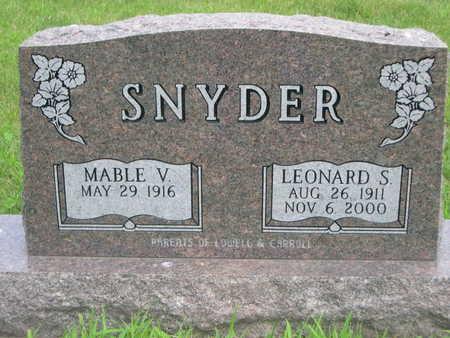 SNYDER, LEONARD S. - Dallas County, Iowa | LEONARD S. SNYDER