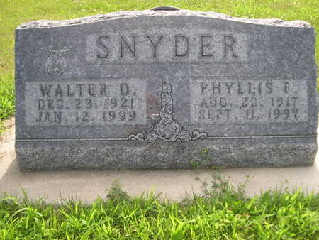 SNYDER, WALTER D. - Dallas County, Iowa | WALTER D. SNYDER