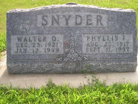 SNYDER, PHYLLIS F. - Dallas County, Iowa | PHYLLIS F. SNYDER