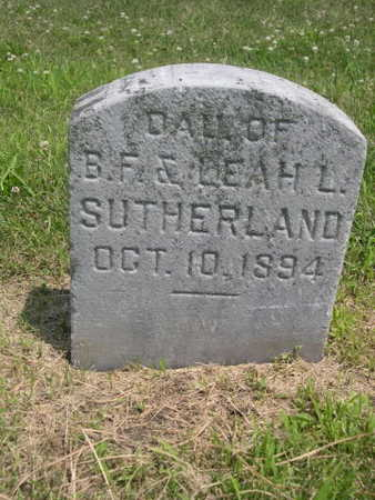 SUTHERLAND, DAUGHTER OF B.F. - Dallas County, Iowa | DAUGHTER OF B.F. SUTHERLAND