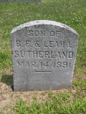 SUTHERLAND, SON OF B.F. & LEAH - Dallas County, Iowa | SON OF B.F. & LEAH SUTHERLAND