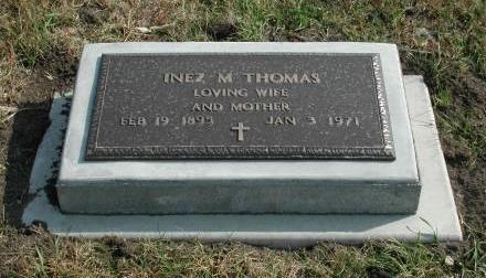 THOMAS, INEZ M - Dallas County, Iowa | INEZ M THOMAS