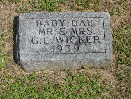 WICKER, BABY DAU OF G.L. - Dallas County, Iowa | BABY DAU OF G.L. WICKER