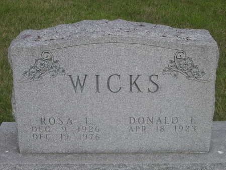 WICKS, DONALD E. - Dallas County, Iowa | DONALD E. WICKS