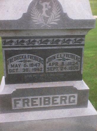 FREIBERG, JOHN C. L. - Dallas County, Iowa | JOHN C. L. FREIBERG