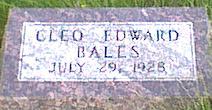 BALES, CLEO EDWARD - Davis County, Iowa | CLEO EDWARD BALES