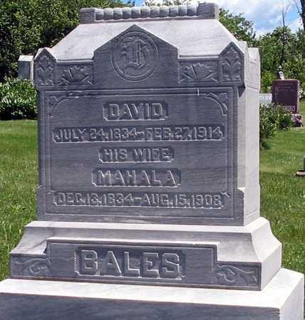 BALES, MAHALA - Davis County, Iowa | MAHALA BALES