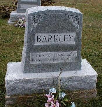 BARKLEY, THOMAS & MARGARET BARKLEY - Davis County, Iowa   THOMAS & MARGARET BARKLEY BARKLEY