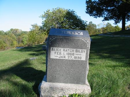 HATCH BILBY, ALICE - Davis County, Iowa | ALICE HATCH BILBY